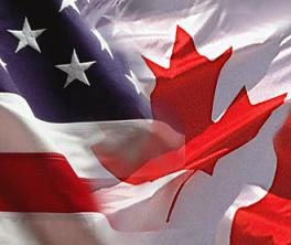 Canada and USA Flag pic